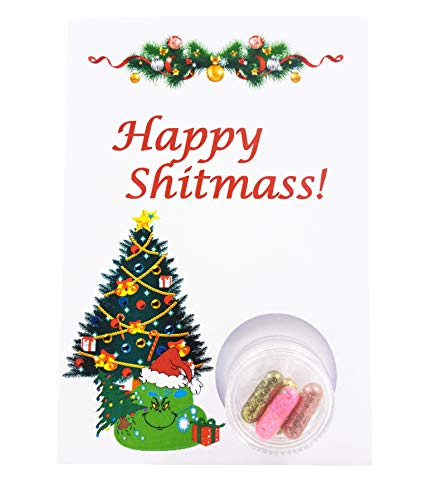 """STG – The Glamour Gift – X-Mas Card """"Grinch"""" Christmas Card, Christmas Greeting, Surprise Card, Nice for the Christmas Day,"""