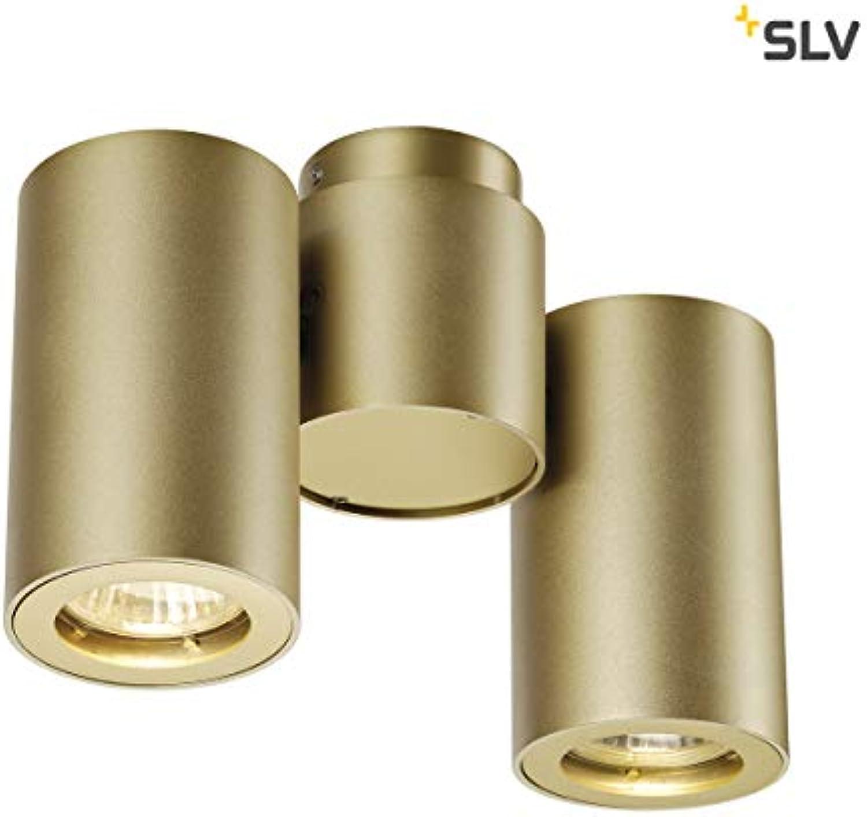 SLV LED Strahler ENOLA_B dreh- und schwenkbar  Dimmbare Wand- und Deckenleuchte zur Beleuchtung innen  LED Spot, Deckenfluter, Deckenstrahler, Decken-Lampen, Wand-Lampe  2-flammig, GU10, EEK E-A++
