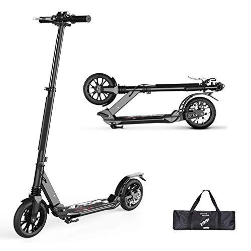 Scooter kickstart Patada para scooter deportivo al aire libre, Adulto plegable con manillar ajustable, Patada no eléctrica que absorbe los golpes, Rueda de disco grande con freno de disco, 220L