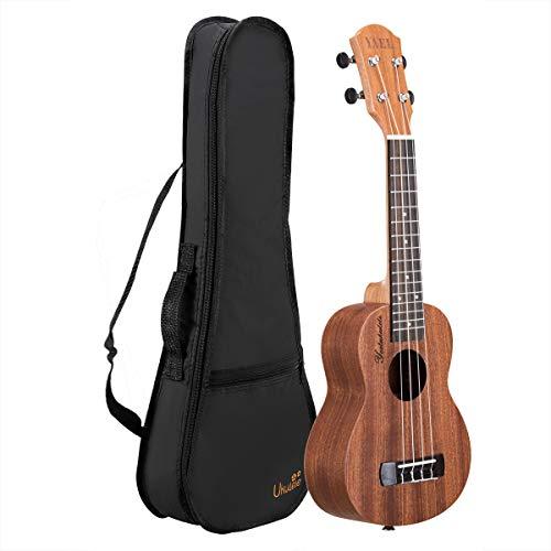 Professional Sopran Ukulele 21 Zoll Ukulelen Hawaii Gitarre Aquila Saiten mit Anfänger Starter Pack