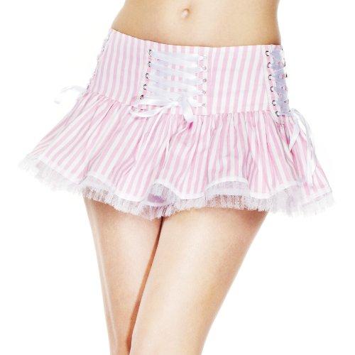 Hell Bunny Minirock Laura Skirt pink-White S