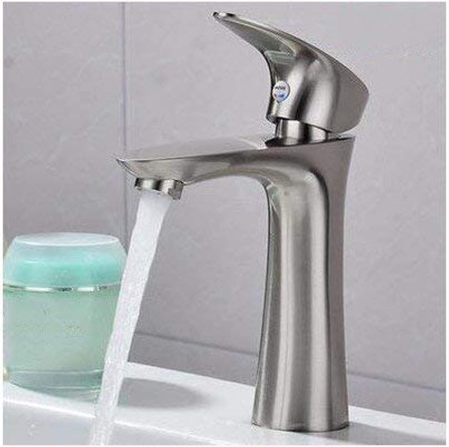 Oudan Basin Mixer Tap Bathroom Sink Faucet Basin mixer single hole cold-hot,C, (color   C)