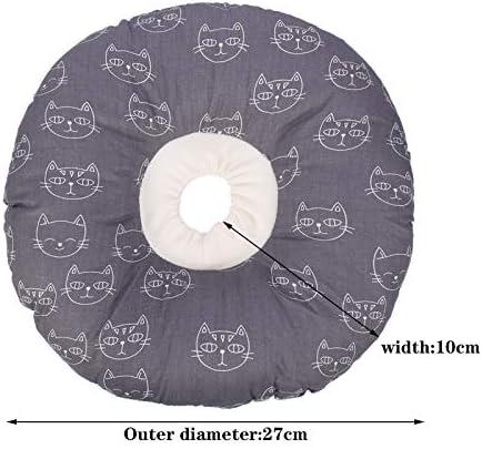 Opopark Collier de Récupération de Chat Collier de Récupération Confortable Collerette de Protection Collerette pour Chiens pour Chats Mignon(M)