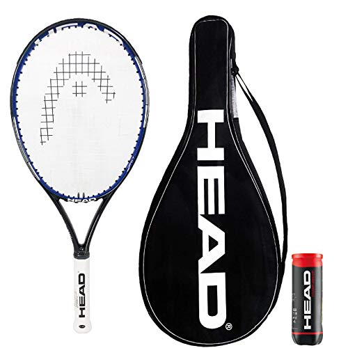 Head Power Balance 6 Graphite Tennisschläger + Full Cover & 3 Championship Tennisbälle (Griff: 1 bis 4)