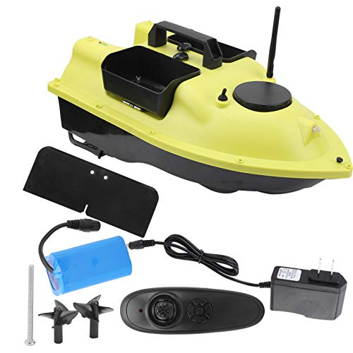 Barco de Cebo de Peces RC 3 Compartimentos Control Remoto Inteligente Buscador de Peces Barco Barco de Cebo de Pesca inal¨¢mbrico 100?240V(US)