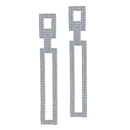 Juvel Jewelry Women Fashion Silver Plated Teardrop Crystal Long Sparkling Square Drop Dangle Tassels Style For Wedding Bridemaid
