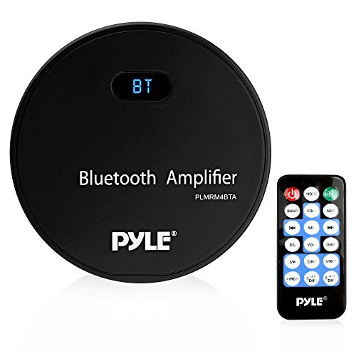 Pyle Marine Stereo Receiver, Bluetooth Amplifier, Water Resistant, MP3/USB/AUX, Wireless Streaming Used with Boat, Automobile, Off-Road, Mobile and Marine Vehicles, Wireless Remote Control (PLMRM4BTA)