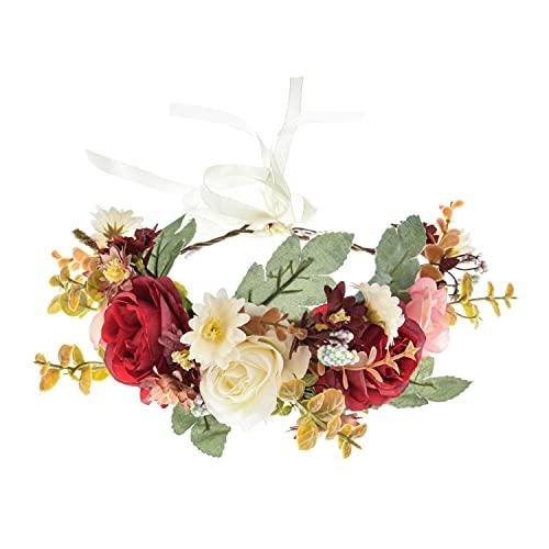 Corona de flores bohemia floral tocado femenino flor diadema corona de pelo accesorios para el cabello de boda