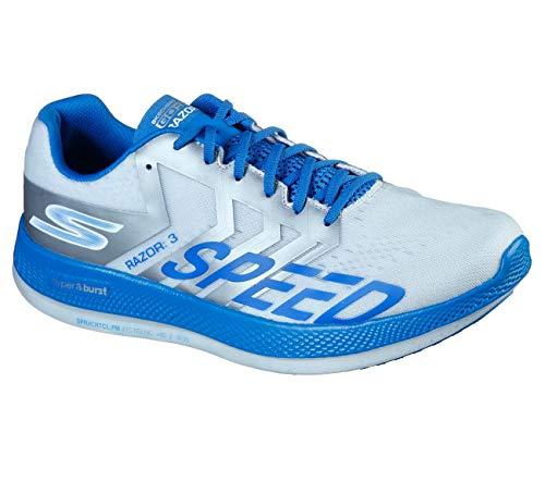 Skechers Go Run Razor 3 Hyper Running Shoe, White/Blue - 11.5 M US
