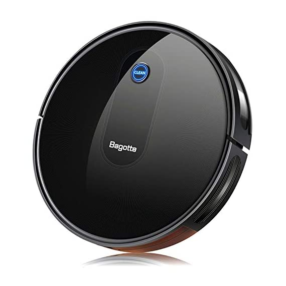"Robot Vacuum, Max Suction Robotic Vacuums Cleaner, 2.7"" Bagotte Robot Vacuum Cleaner Super Thin & Quiet, Large Dust Bin, Self-Charging, Ideal for Pet Hair, Carpet, Hardwood Floors 1 Strong Cleaning→Large Dust Bin: Bagotte 1500 PA robot vacuum cleaner can easily pick up pet hair, large particles on the floor and can even drag trapped dirt from deep inside low-pile carpets. At the same time, the large-capacity Dustbox (0.6L) can hold a lot of garbage, reducing the number of cleanings. High Capacity Battery→Self-Charging: Equipped with 2600mAh li-ion batteries, the robotic vacuums will continuous to clean your house after being fully charged. Especially, when the robot vacuums are at low power, they will automatically return to the charging station for charging. 4 Cleaning Modes→More Choices: 4 different cleaning modes including AUTO / SCHEDULING / SPOT / EDGE, SINGLE ROOM & MAX CLEANING. Bagotte robotic vacuums has a unique Schedule Cleaning mode.You can set any time you want to clean, It will be your excellent helper."