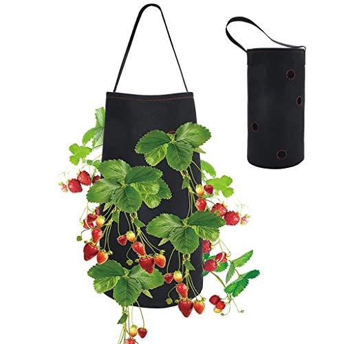FBGood - Bolsas de plantación para colgar en la pared de jardinería – Colgada Jardinera vertical colgada Jardinera de pared para decoración de jardín
