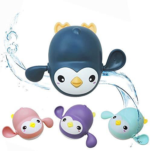 Andiker Baby Badespielzeug Uhrwerk Schwimmen Badewanne Pool Spielzeug, Interaktives Babyspielzeug mit schwimmenden für Dusche