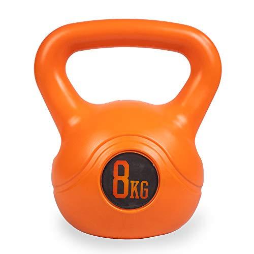 Phoenix Fitness RY932 Kettlebell da Allenamento, Peso Massimo del bollitore Bell per la Forza e l'allenamento Cardio, 8KG, Aranci