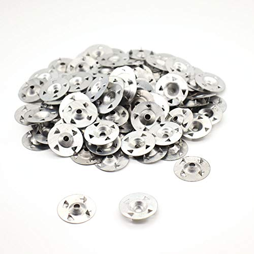 Arandelas Easy Fix - Paquete de 100 piezas de 28 mm de diámetro, arandelas de 4 puntas KAIISSA para placas de yeso, placas extruidas, termoplacas, placas de respaldo fijas