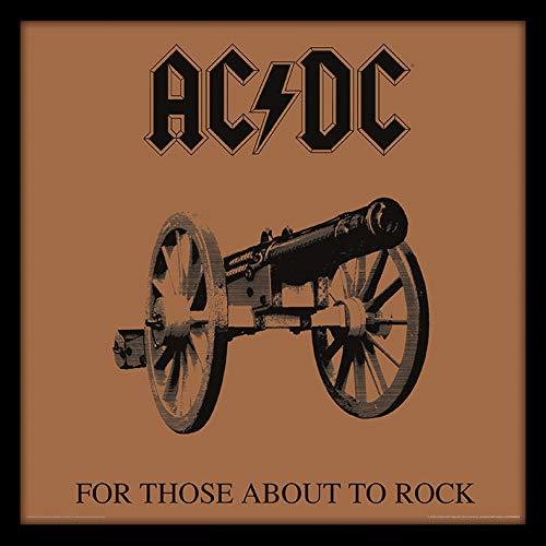 AC/DC ACPPR48062-PL (for Those About to Rock) Objet Souvenir, Contreplaqué, Multicolore, 31,5 x 31,5 cm