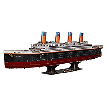 WISESTAR 32.2  L Large Titanic 3D Puzzles Model for Adults and Kids 116PCS Sinking Cruise Boat Ship Play Model Game Toy Craft Kits Educational Toy Birthday Gift for Boys Girls