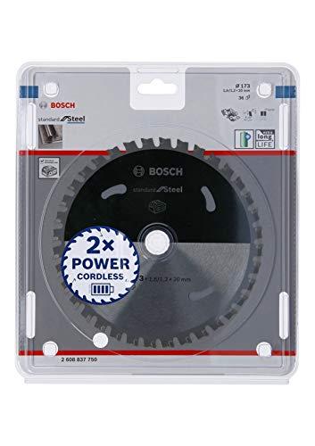 Bosch Professional Lama per sega circolare Standard for Steel (acciaio, 173 x 20 x 1.6 mm, 36 denti, accessorio per sega circolare a batteria)