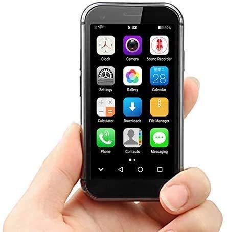 Mini-Handys 4G-Handy SOYES, 2 GB + 16 GB / 3 GB + 32 GB, 3,2-Zoll-Smartphone Android 6.0 Quad Core bis 1,3 GHz, Dual-SIM, Bluetooth, WLAN, GPS, Unterstützung von Google Play (schwarz, 16GB)