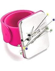 LjzlSxMF Magnética de Costura acerico, Brazo del Amortiguador del Pin de Silicona Correa para la muñeca Pin Titular de la Pulsera de la Correa de los contactos del Empuje Agujas de Coser