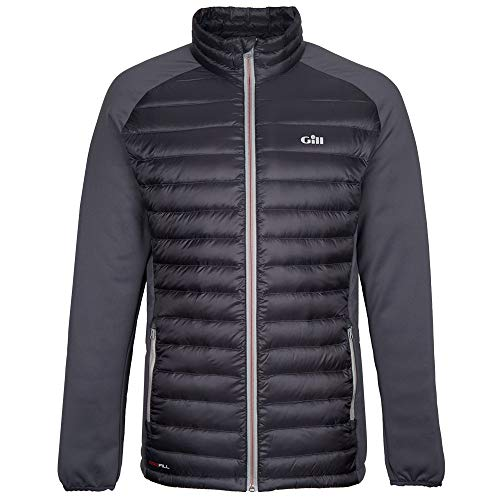 Gill Men's Waterproof Insulated Hybrid Down Jacket, Charcoal, XX-Large