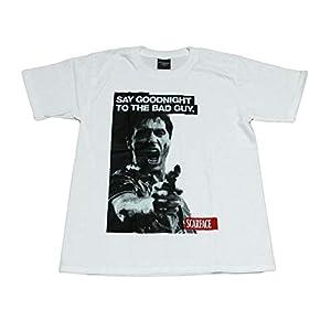 (BROADWAY)映画 Tシャツ スカーフェイス アル・パチーノ メンズ (XL, 白) [並行輸入品]