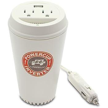 PowerLine PowerCup 200/400 Watt Mobile Inverter with USB Power Port 90309