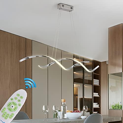 Lampadario LED Sospensione Cucina Sala Tavolo da Pranzo Lampadari Moderni Dimmerabile con Telecomando Soggiorno Lampada Paralume in acrilico Soffitto Lampada per Bagno Ufficio Camera da Letto Hotel