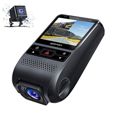 apeman Dashcam Autokamera GPS Dual Lens Full HD 1080P Vorne und...