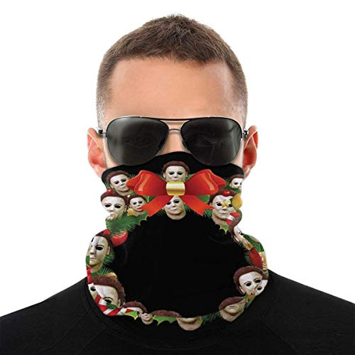Teemoo Michael Myers Halloween Multiface Weihnachtskranz Vielzahl Kopftuch Gesichtsmaske Magische Kopfbedeckung Hals Gamasche Gesicht Bandana Schal