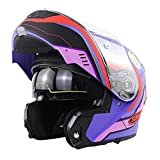 Cascos Modulares De Moto Mujer Hombre DOT ECE Homologado Casco Abierto Moto Con...