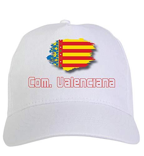 Tipolitografía Ghisleri sombrero blanco Comunidad Valenciana España bandera cierre velcro 64