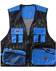 Hombres De Verano Respirable Chaleco Exterior De con Multibolsillos Vest para Pesca Fotografía