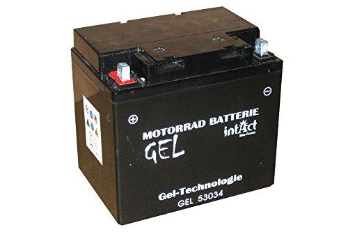 Batería de gel para la motocicleta, tractor de césped, cortacéspedes de montar 12V 30Ah Intact Bike-Power GEL53034 30Ah (DIN 53034) Y60-N30-A