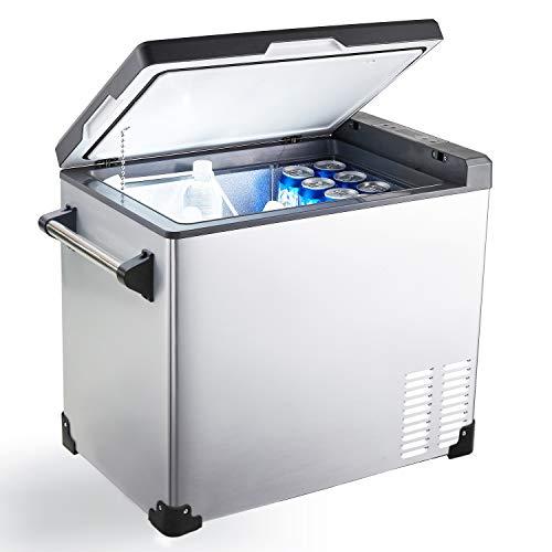 Cathville 48 Quart Portable Refrigerator Fridge Freezer for car, Boat, RV, Camping, Roadtrip, Outdoor, Home, -4°F Degree, 12V DC 110V AC