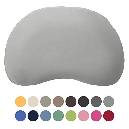Edda Lux Bezug für Tempur Sonata S/M Kissen | Kissenbezug mit Marken-Reißverschluss | 100% Baumwolle | Farbe Platin