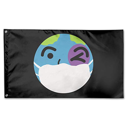 Mrscsefid American Flag by U.S. Veterans Owned Let's Save The World from Corona-Virus T Flag 3x5 Ft