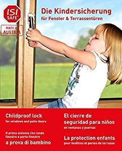 Kindersicherung für Fenster - ohne Bohren | werkzeuglose Montage, Fenstersicherung, Balkonsicherung, Verriegelung ohne Beschädigung - 2 Stück (Weiss)