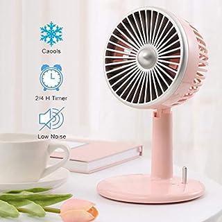 JKYQ Ventilador de Escritorio Retro Mini de Tres velocidades Ajustables Ventilador portátil USB Ultra silencioso pequeño refrigerador Ventilador de Escritorio para el hogar del Dormitorio