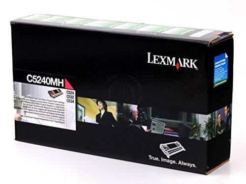 Lexmark C5240MH High Yield - magenta - original - toner cartridge LCCP, LRP - for C524, 524dn, 524dtn, 524n, 524tn, 532dn, 532n, 534dn, 534dtn, 534n