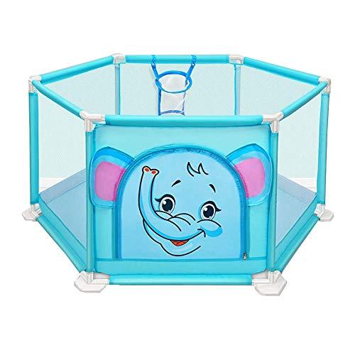 ZTMN Cartoon Baby Playpen Toddler Playard Indoor Child Safety Fence (Couleur: Bleu)
