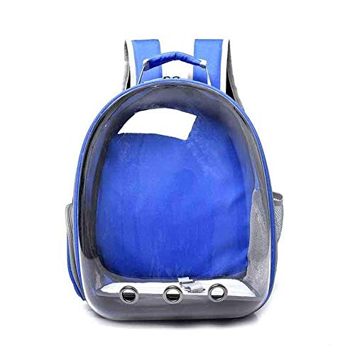 Kalmerende Bed Plush Portable Ademende Cat Carrier Bag Outdoor Travel Small Dog Cat Backpack Dog Tag (Color : Blue, Size : L 32x30x12 cm)