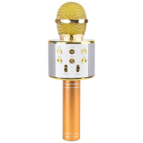 Tmox Singendes Mikrofon für Mädchen, Geburtstagsgeschenk für Mädchen von 5-12 Jahren Spielzeug Geschenke für 4-8-jährige Jungen Mikrofonlautsprecher für das Geschenk des Mädchens Bluetooth Mikrofon