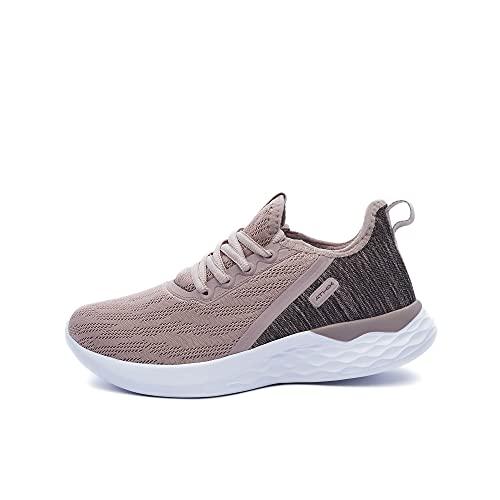 ATHIX Allure Flexy - Zapatillas de Correr para Mujer, Zapatillas comodas y Transpirables, Rosa y Marron, 38 EU
