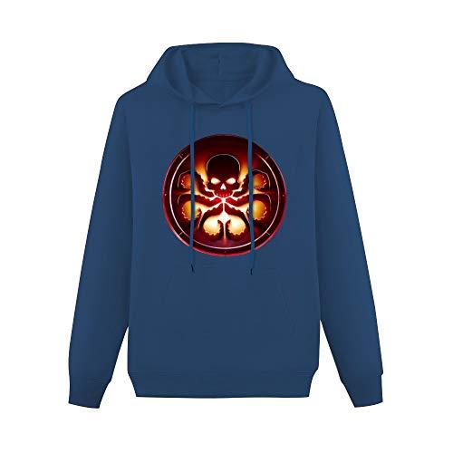 GraphicHoodie Agent of Shield Hydra Logo Long Sleeve Sweatshirts Navy XXL