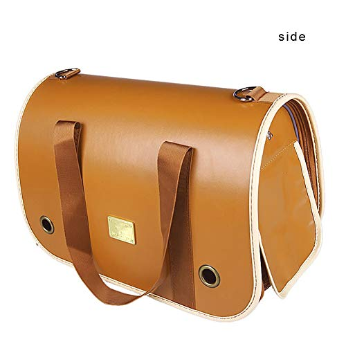 Pet Travel Backpack, Closable Cat Backpack Portable High-Grade Leather, Best for Little Or Medium Pet Outdoor Use,M