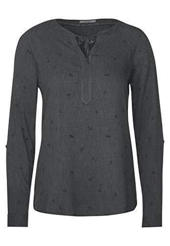 Cecil Damen Bluse mit Symbolprint Graphit Grey Melange M