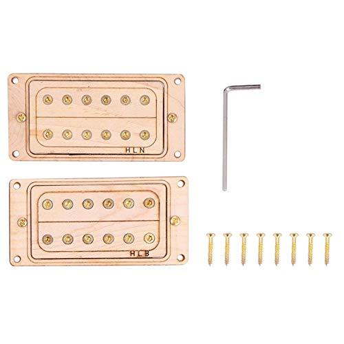 Humbucker professionnel de micro de chevalet de cou pour les amateurs de guitare,(Gold core and screws)