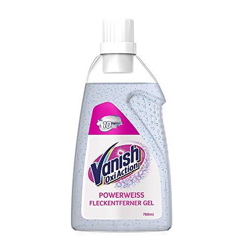 Vanish Oxi Action Gel Powerweiss – Fleckentferner Gel ohne Chlor – Zum Waschen, Vorbehandeln und Einweichen weißer Wäsche – 1 x 750 ml