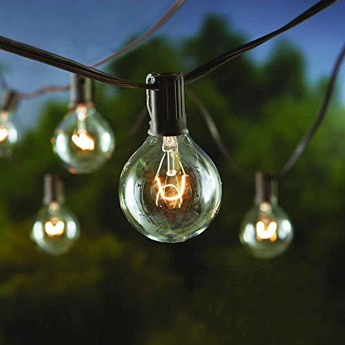 AFAITH - Guirnalda de luces para exteriores, 30 pies G40 IP44, impermeables, para exteriores, para jardín, luces de guirnalda de luces para jardín, patio, cafetería, pabellón, boda, fiesta, Navidad