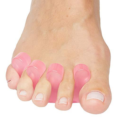 ZenToes Gel Toe Separators for Pedicure, Nail Polish, Toenail Trimming - Set of 2 Toe Spacers (Pink)